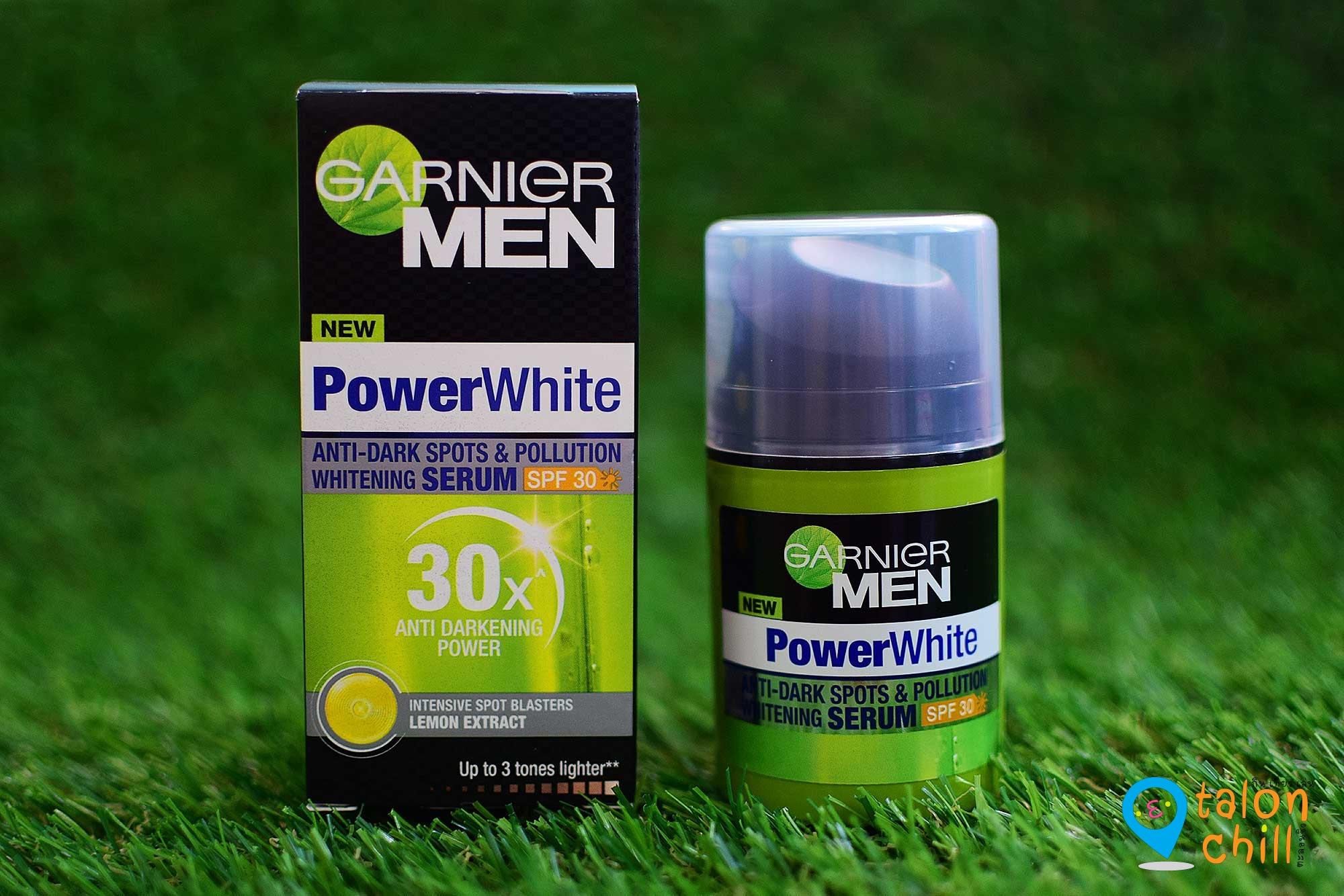 [แกะกล่อง] Garnier MEN Power White เซรั่มบำรุงผิวหน้า ผสมสารป้องกันแสงแดด