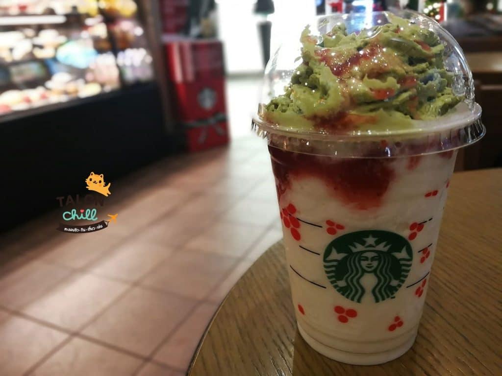 [รีวิว starbucks] strawberry snowy cream frappuccino (สตรอเบอร์รี่ สโนวี่ ครีม แฟรบปูชิโน่)