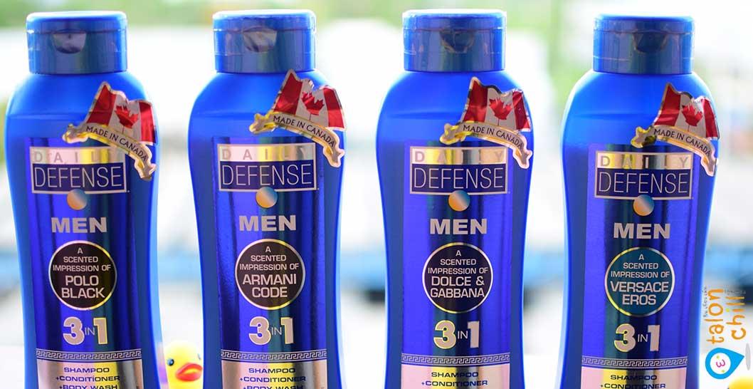 [แกะกล่อง] ผลิตภัณฑ์ Daily Defense 3 in 1 for men เจลอาบน้ำ แชมพู คอนดิชันเนอร์ในขวดเดียว