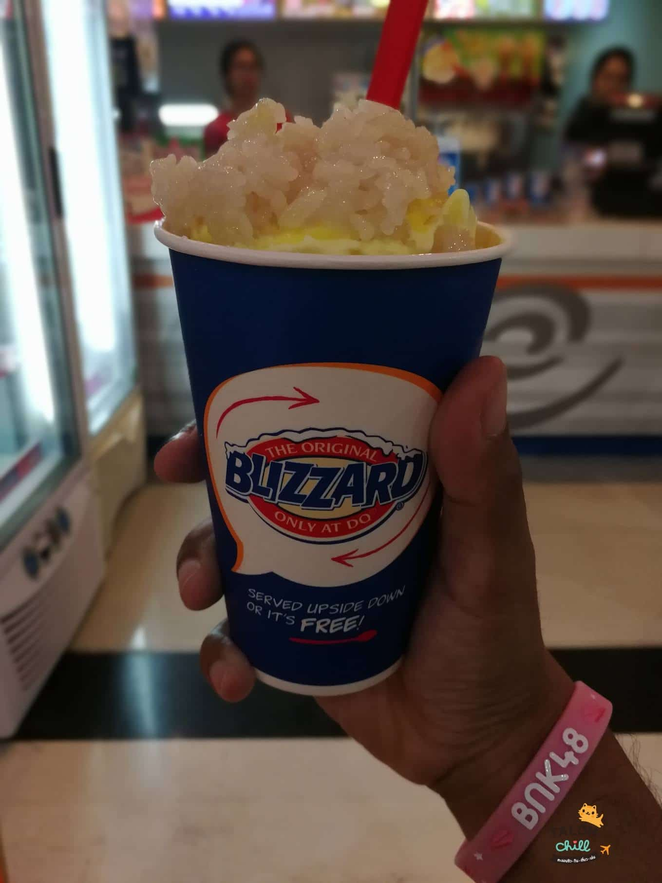 [รีวิว] ไอศครีม Dairyqueen (แดรี่ควีน) ทุเรียนหมอนทองบลิซซาร์ด (durian sticky rice)