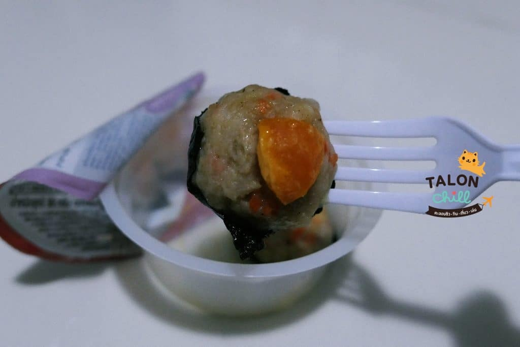 [รีวิวของกินในเซเว่น] หมูสร่ายหน้าไข่เค็ม! ติ่มซำ หมูนุ่ม ๆ